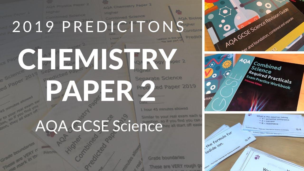 AQA 2019 Predictions | Chemistry Paper 2