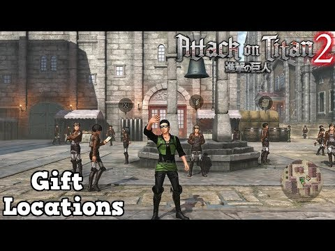 Attack on Titan 2 - Gift Locations - YouTube