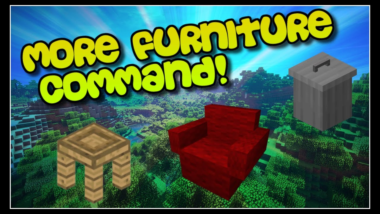 Furniture In Minecraft! - NO MODS! - ONE COMMAND