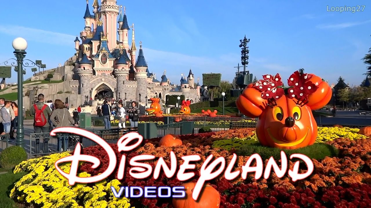 decorations d 39 halloween 2014 disneyland paris hd youtube. Black Bedroom Furniture Sets. Home Design Ideas