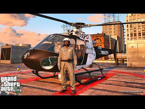 GTA 5 MODS LSPDFR 916 - HELICOPTER PATROL!!! (GTA 5 REAL LIFE PC MOD)