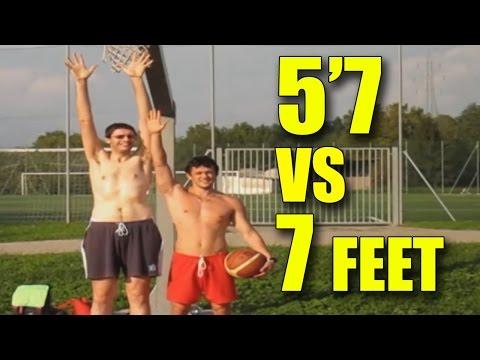 5'7 dunker vs 7 feet dunker - who dunks better?