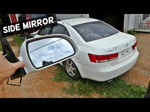HOW TO REPLACE SIDE MIRROR ON HYUNDAI SONATA REAR VIEW MIRROR
