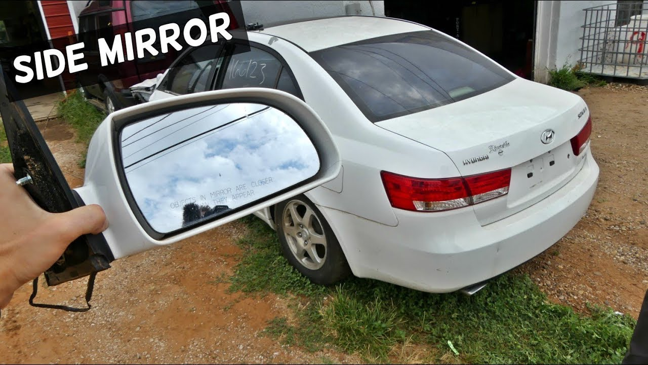 How To Replace Side Mirror On Hyundai Sonata Rear View Mirror Youtube
