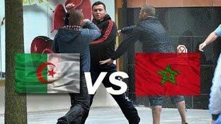شِجَار بين جزائري و مغربي في فرنسا - Combat Entre Algérien et Marocain en France