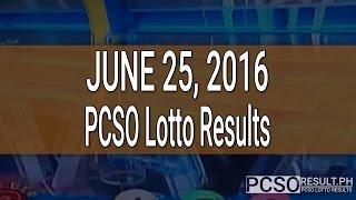 PCSO Lotto Results June 25, 2016 (6/55, 6/42, 6D, Swertres & EZ2)