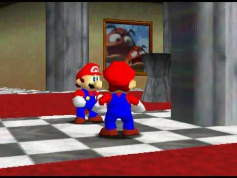 Super Mario 64 Mario Is High In Mirror Room Youtube