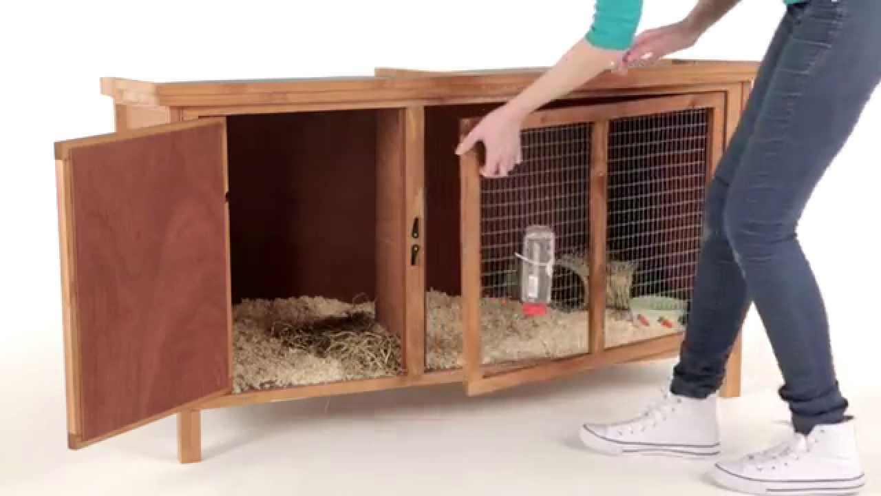 Poppy den guinea pig hutch youtube for Free guinea pig hutch