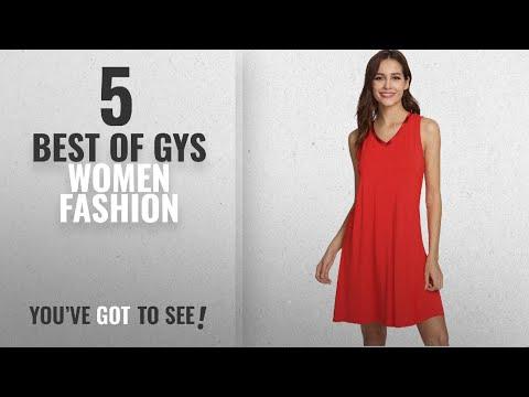 Gys Women Fashion [2018 Best Sellers]: GYS Women's Bamboo Viscose Sleeveless V Neck Nightgown, X