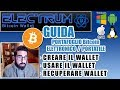 GUIDA ELECTRUM wallet Bitcoin elettronico ESTRARRE CHIAVI PRIVATE [FORK BTG GOLD CASH DIAMOND BTC]