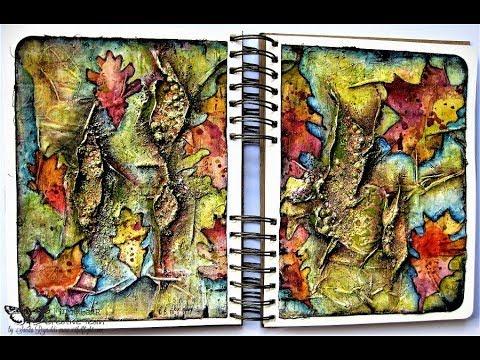 """Herbarium"" - Art Journal Page by Sanda Reynolds"