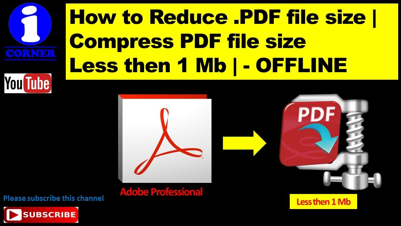 How to Reduce  PDF file size | Compress PDF file size Less then 1 Mb | -  OFFLINE