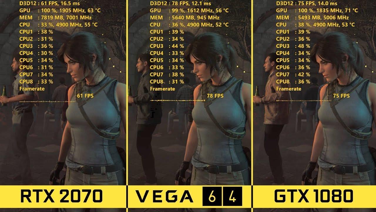 RTX 2070 vs Vega 64 vs GTX 1080 - 1440p BENCHMARKS