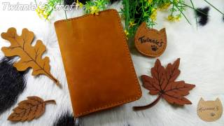 How to make a simple leather passport cover