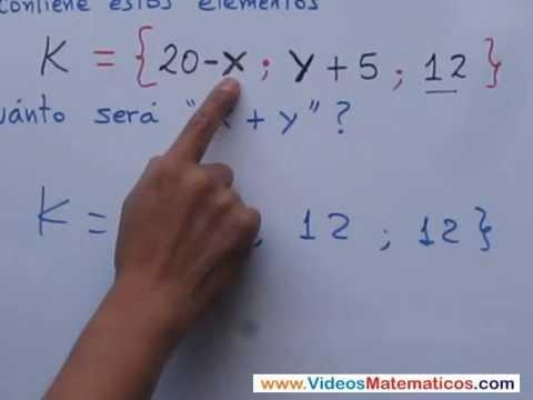 Conjunto unitario - Cuanto valen las variables xy  - MatematicaPasoAPaso.com