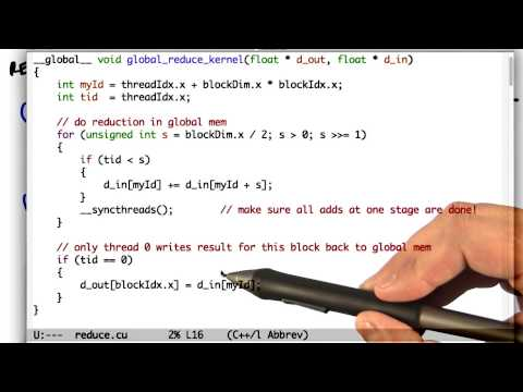 Reduction Using Global and Shared Memory - Intro to Parallel Programming