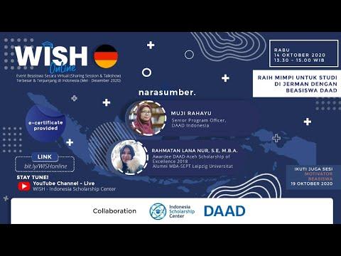 WISH Online - Raih Mimpi Untuk Studi di Jerman dengan Beasiswa DAAD