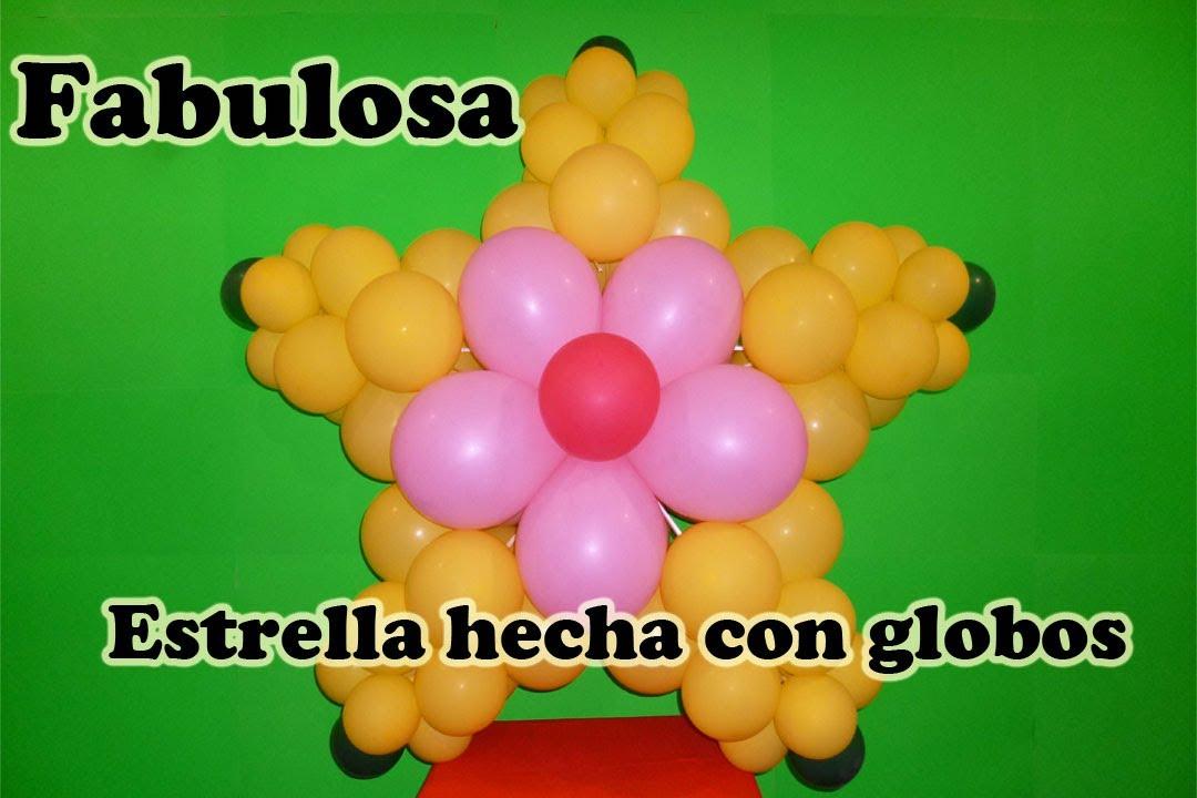 FABULOSA ESTRELLA HECHA CON GLOBOS - FABULOUS STAR MADE OF BALLOONS ...