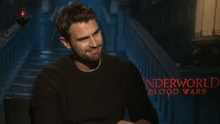 "Theo James on ""Underworld"" Swordfights & ""Divergent"" Ending"