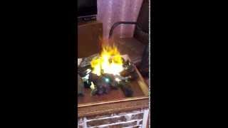 Пламя из пара огонь самодельный камин своими руками  искусственный огонь fake flame the fake fire