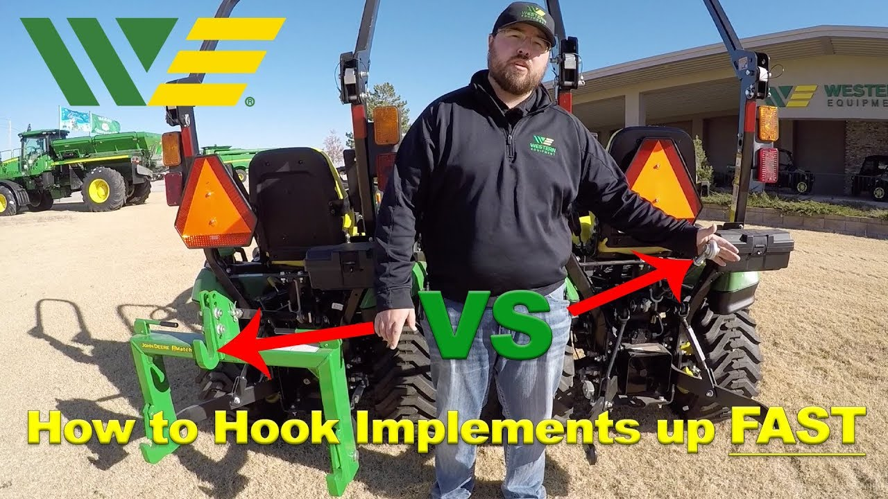 John Deere iMatch Quick Hitch VS Traditional 3 Point Hitch - Which is  Faster???