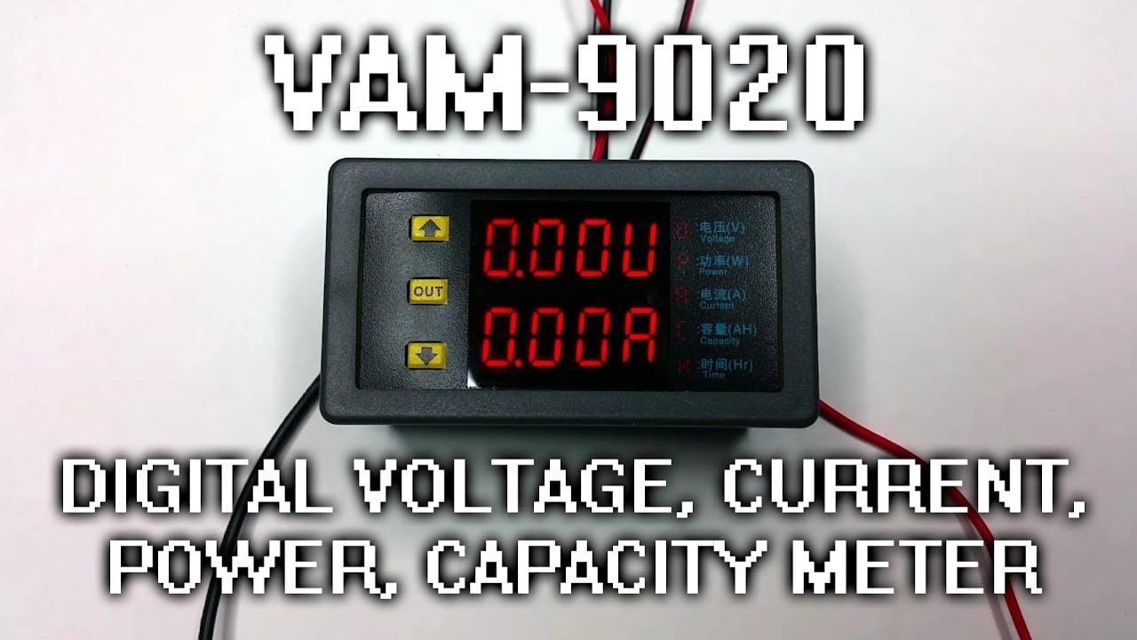 Vam 9020 Digital Voltage Current Power Capacity Panel Meter Display Ammeter Voltmeter Lcd Amp Volt 100a 100v Setup Wiring And Calibration