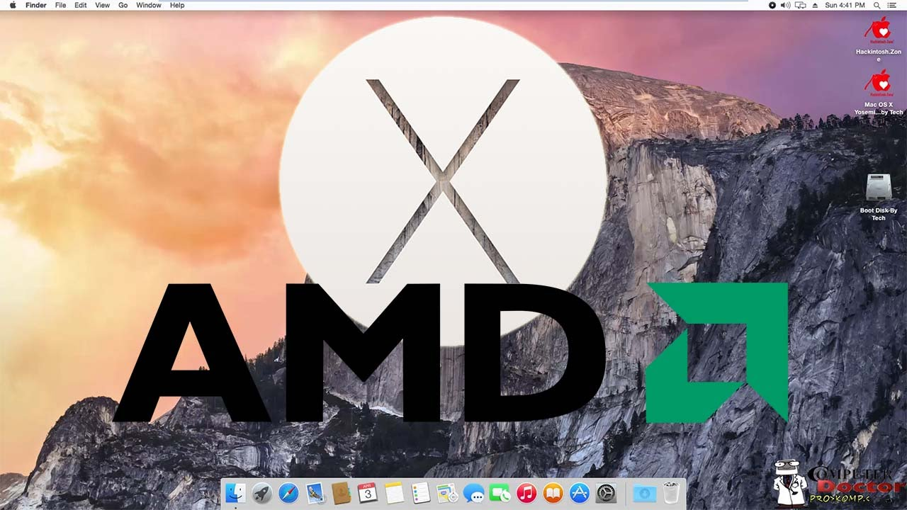 how to run osx on amd