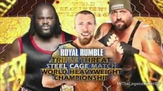 WWE Royal Rumble 2012 Match Card (HD).