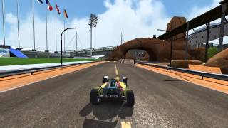 """TrackMania United Forever - My first selfmade """"blockmixed"""" Track"""