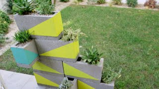 DIY '80s Geometric Planters | Eye on Design