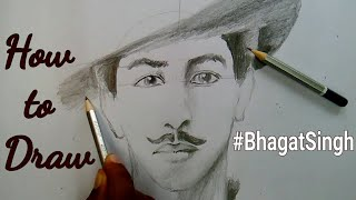 How to Draw Bhagat Singh step by step for beginners