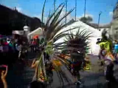 Nahuatl Aztec Indian Dia De Los Muertos Dance, Mexico City ( the ...