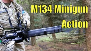 M134 Minigun Airsoft At Section8 Scotland
