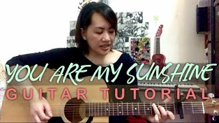 YOU ARE MY SUNSHINE | GUITAR TUTORIAL | EASY CHORDS | EASY STRUMMING PATTERN