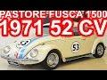 PASTORE VW Fusca 1500 Herbie 1971 Branco Teto Solar aro 15 MT4 RWD 52 cv 10,3 mkgf 126 kmh #Fusca