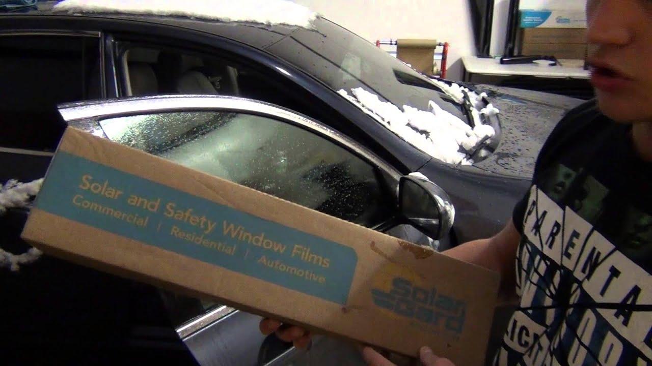 How To Professionally Tint A Car Door Window 07 Infiniti G35 Youtube