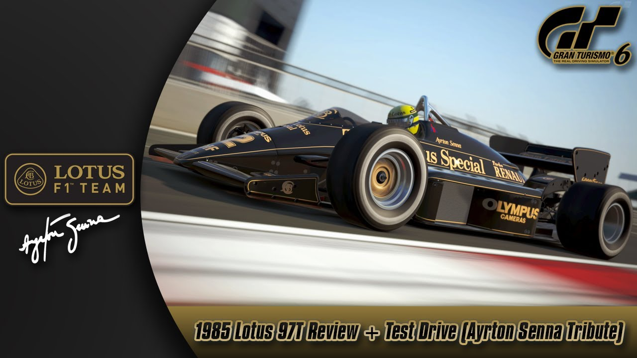 gran turismo 6 1985 lotus 97t review test drive ayrton senna tribute y. Black Bedroom Furniture Sets. Home Design Ideas