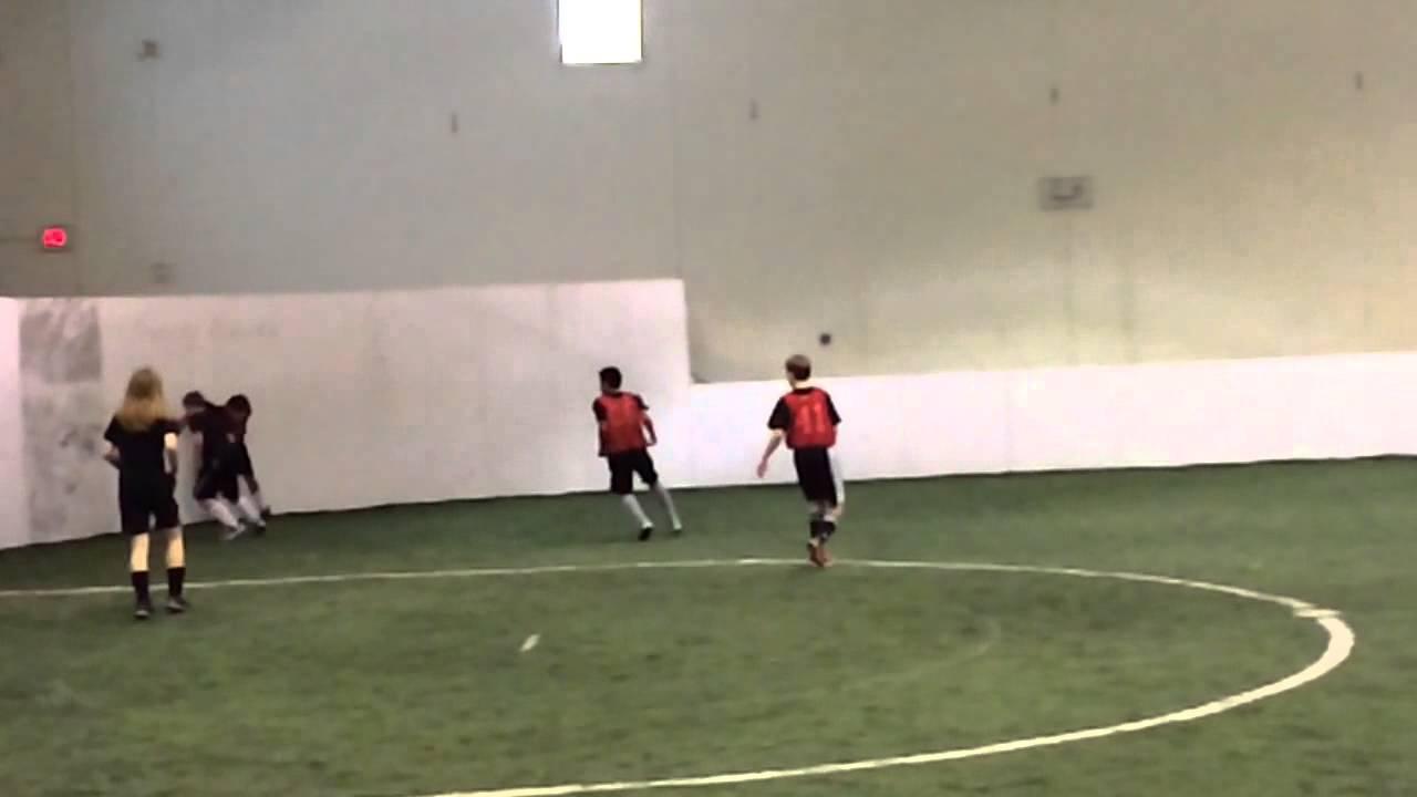 David indoor soccer goal - YouTube