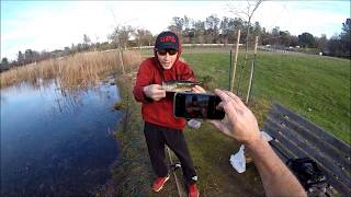 Bass Fishing a dink pond in Winter