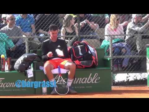 Andy Murray and Dominic Thiem practice in Monte Carlo 2016
