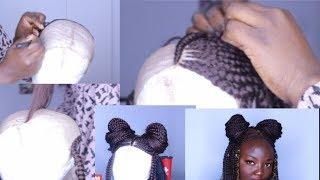 NEW METHOD!How To Make Box Braid Wig with NO Closure /REALISTIC BOX BRAID WIG FOR LESS #2