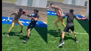 Blueface Tries To Take YK Osiris Head Off 🥊 Rappers Boxing For Clout Part 2