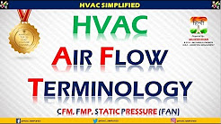 HVAC Air Flow Terminology - CFM, FPM & STATIC  (HVAC Training)