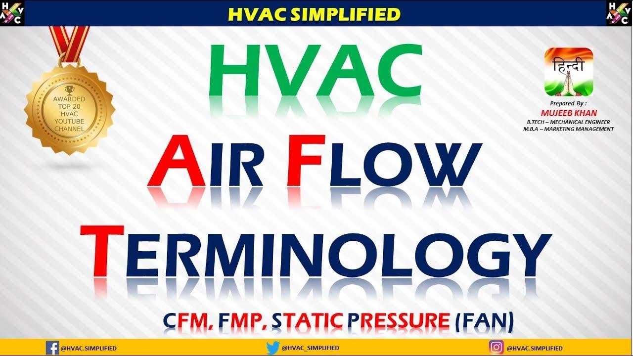 HVAC Training - Air Flow Terminology - CFM, FPM & STATIC (HVAC Training)