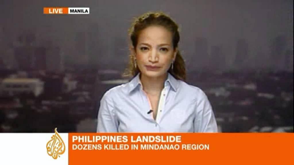philippines landslide kills dozens youtube