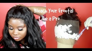 ♡ BLEACH YOUR FRONTAL TO PERFECTION!   Aliexpress Wiggins Hair