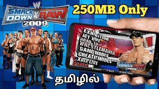 [250MB] How To Download WWE Smackdown vs Raw 2009 Game For Android  TAMIL