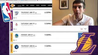 LAKERS FULL SCHEDULE!!! MOST NATIONAL TV GAMES!!