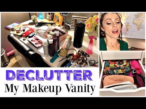 Makeup Vanity DECLUTTER | VLOG | IKEA Alex