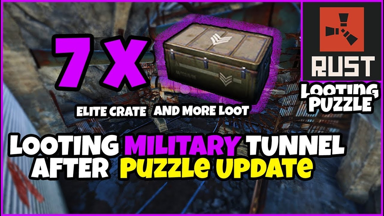 RUST TIPS - Looting Military Tunnel After Keycards, Puzzle Update 7 Elite  Crates